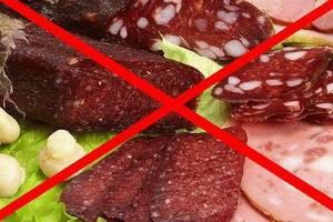 Запрещенные продукты при гепатите А