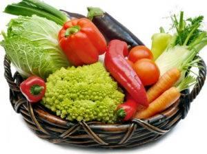 Прием растительной пищи