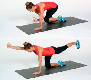 Упражнение на четвереньках
