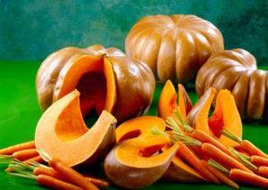 Прекрасный результат оказывают тыква и морковь